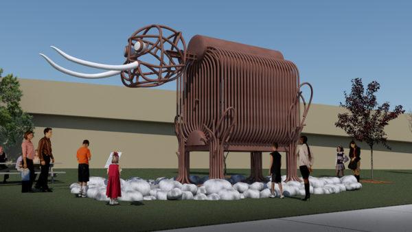 Mastodon Sculpture